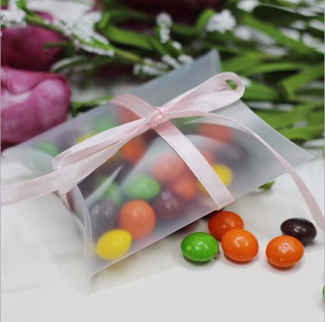 20pcs PVC Birthday Pillow Candy Box Wedding Favor Box wedding ...