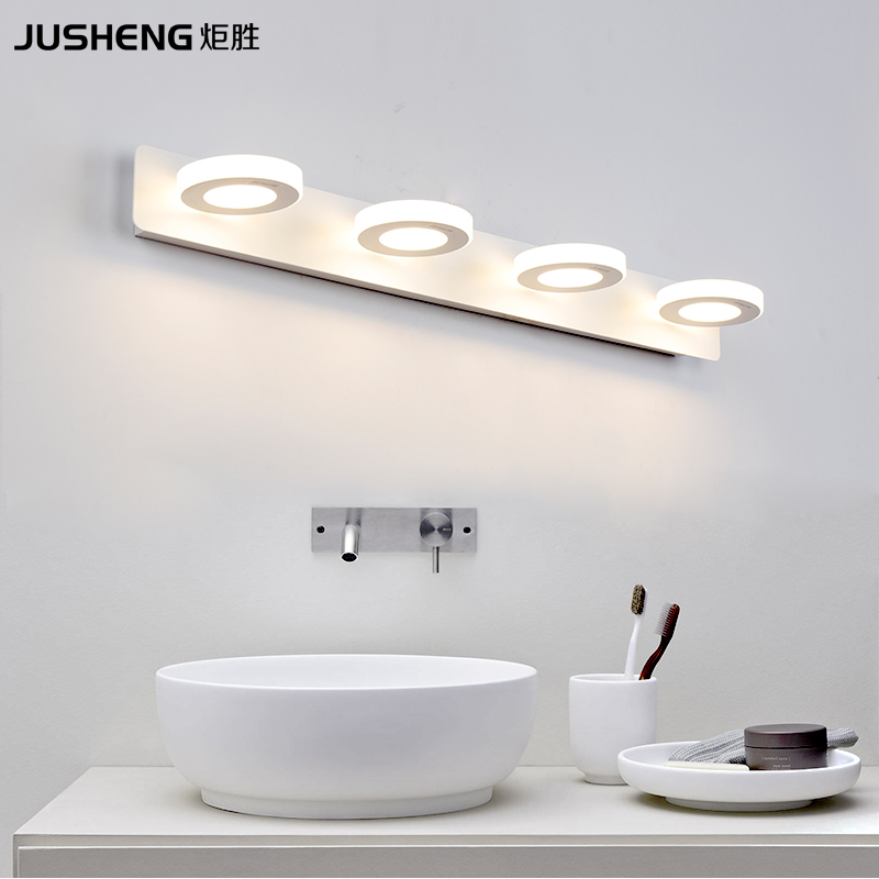 JUSHENG Indoor 12W LED Wall Lamps For Bathroom Wall Lighting Lamps To Mirror led Lights 65cm AC220V/110V