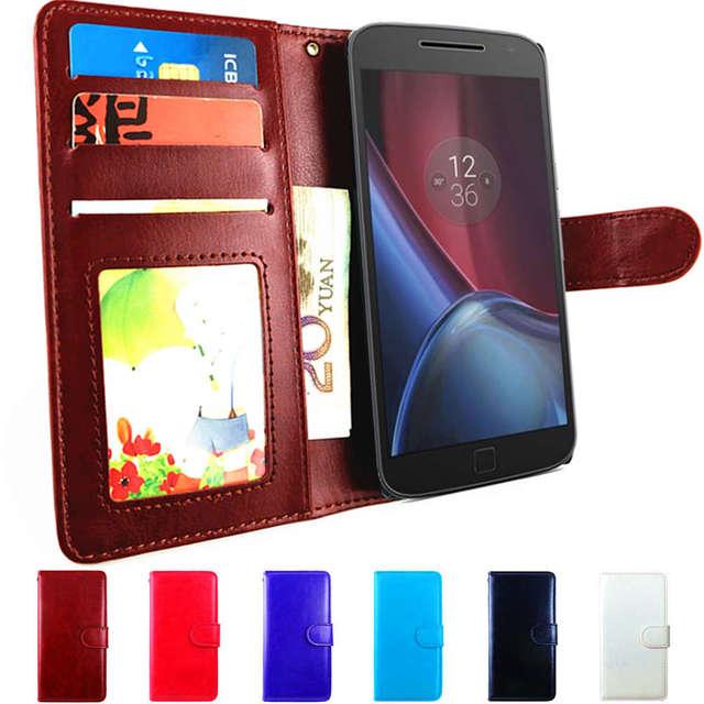 wholesale dealer c4a3c 03d39 US $3.69 20% OFF|Play G 4 Plus Case Flip Leather Wallet Cover For Motorola  Moto G4 Case Play G4 Plus Cover Phone Case for Lenovo Moto G 4 Gen Bag-in  ...