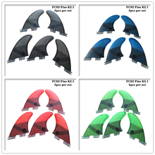 Surf FCS2 Fin K2.1 Black/Blue/Red/Green Fibreglass Honeycomb Fins SUP Board
