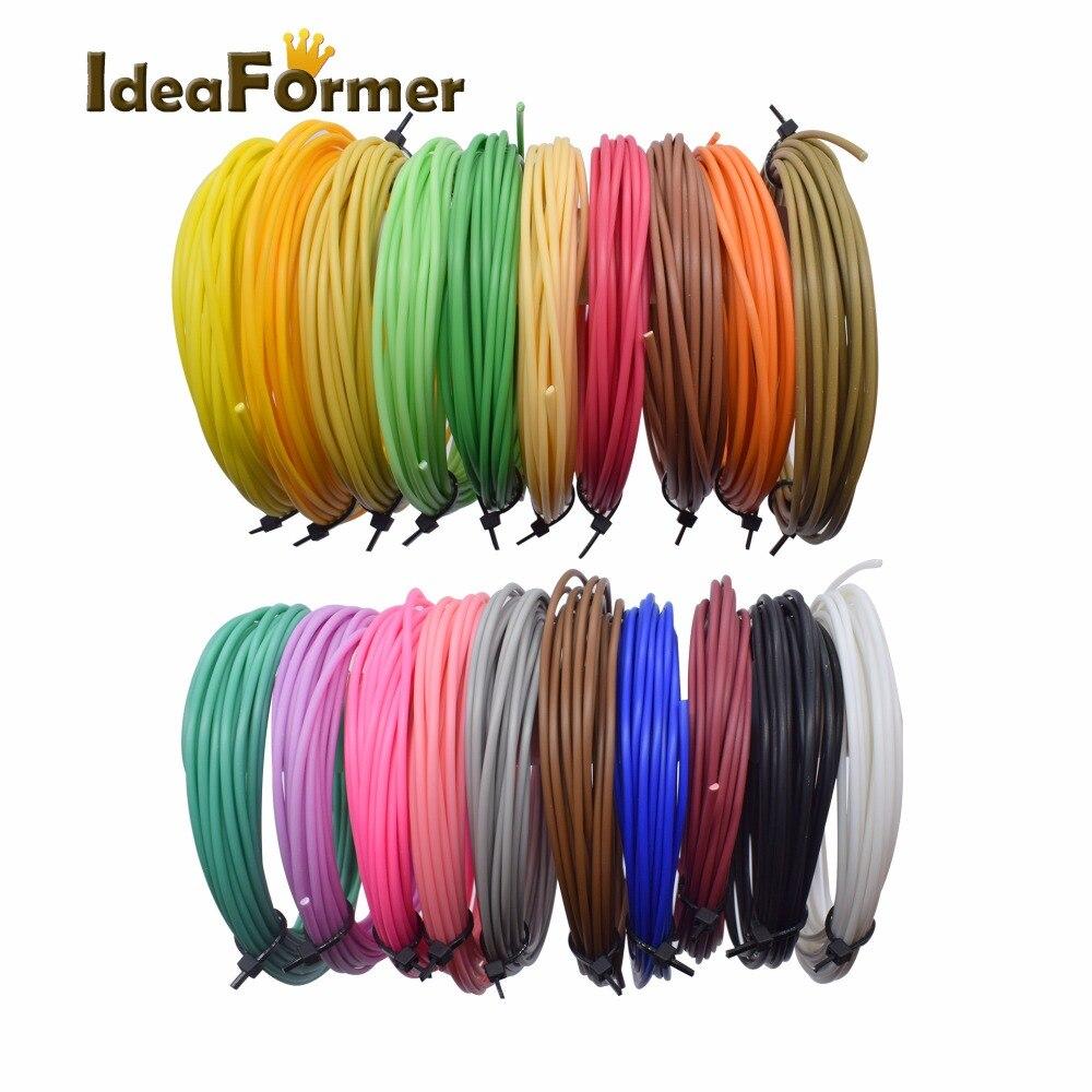 3D printing pen low temperature filament PCL plastic 1.75mm 3D Printer Filament Materials (5M/color ) Cryogenic material