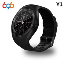 696 Bluetooth Y1 Smart Watch Round Support Nano 2G SIM&TF Card With Whatsapp Facebook App For IOS&Android Phone PK DZ09 GT08
