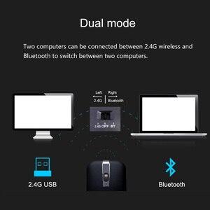 Image 2 - 2.4G Usb Draadloze + Bluetooth Folding Muis Oplaadbare Ergonomisch Gaming Mouse Voor Macbook Lenovo Asus Dell Hp Computer Muis