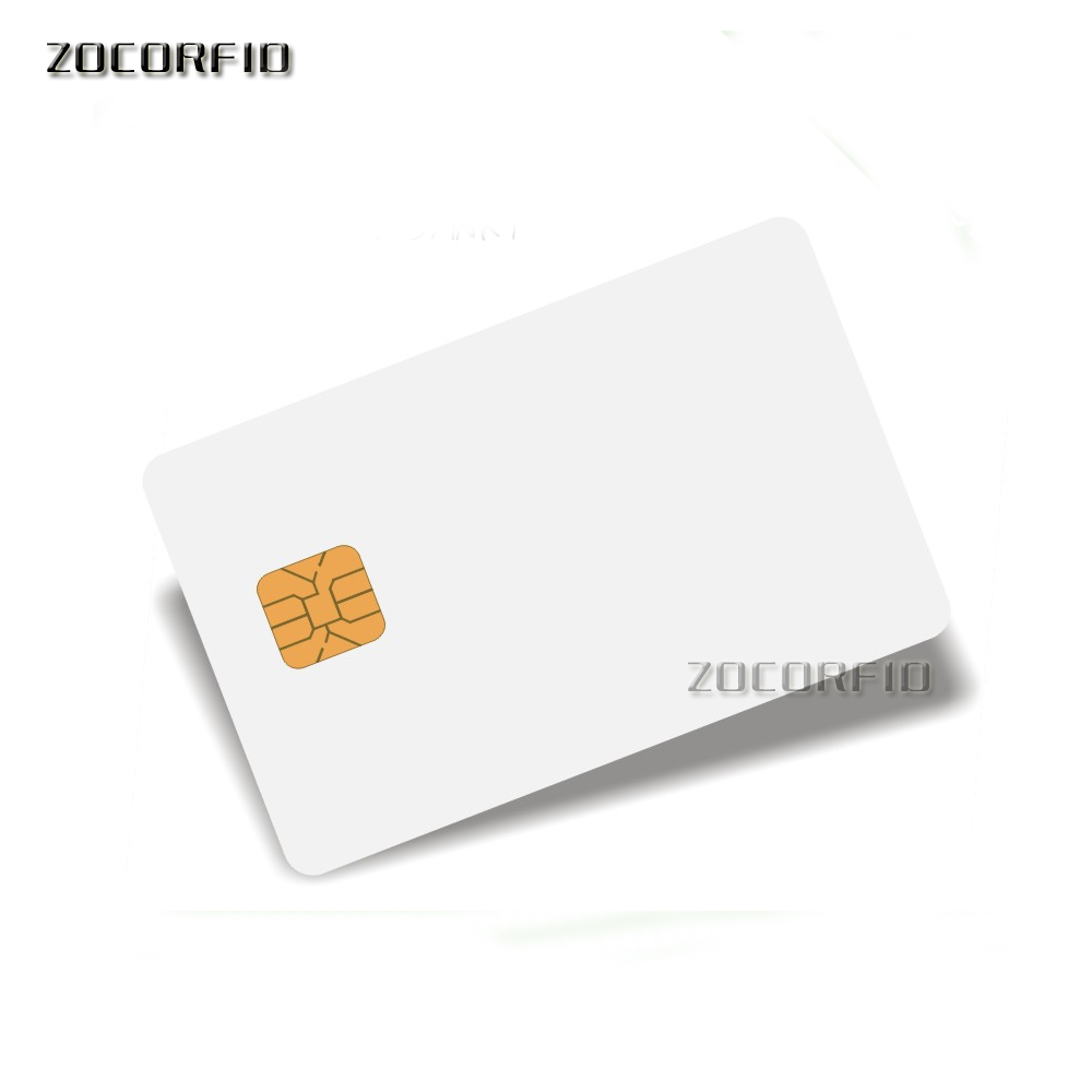 100pcs/lot SLE5528/SLE4428 Con Hi-co Hico Banda Magnetica Compatibile SLE4428 ISO 7816 Smartcard Sicuro Blank Smart IC Card