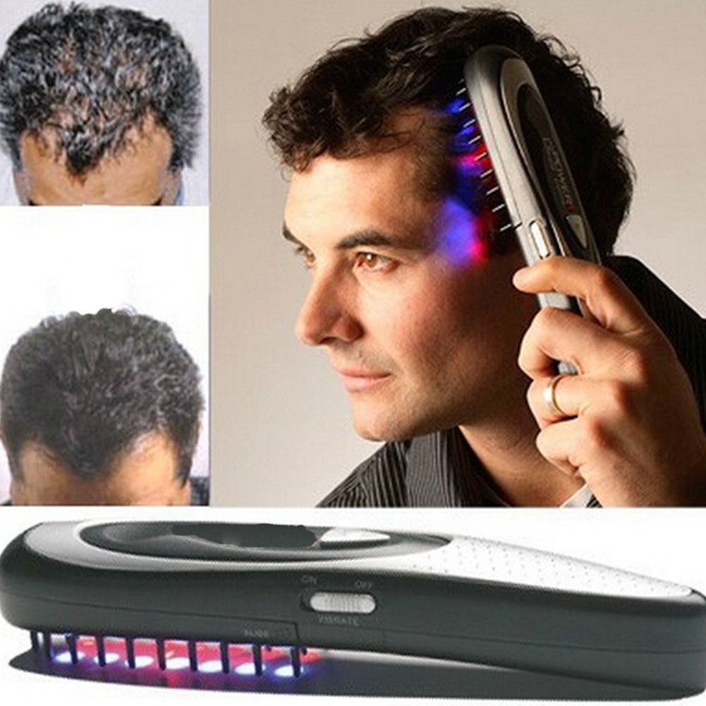 1 Pza cepillo Unid eléctrico para el crecimiento del pelo del Laser cepillo de pelo para la pérdida del pelo peine de terapia de regrase ozono masajeador infrarrojo Drop Shipping