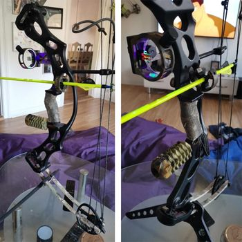 Hunting Archery Crossbow Bow Accessories Combo Bow Sight Kits Arrow Rest Compound Bow Stabilizer String Wax 2