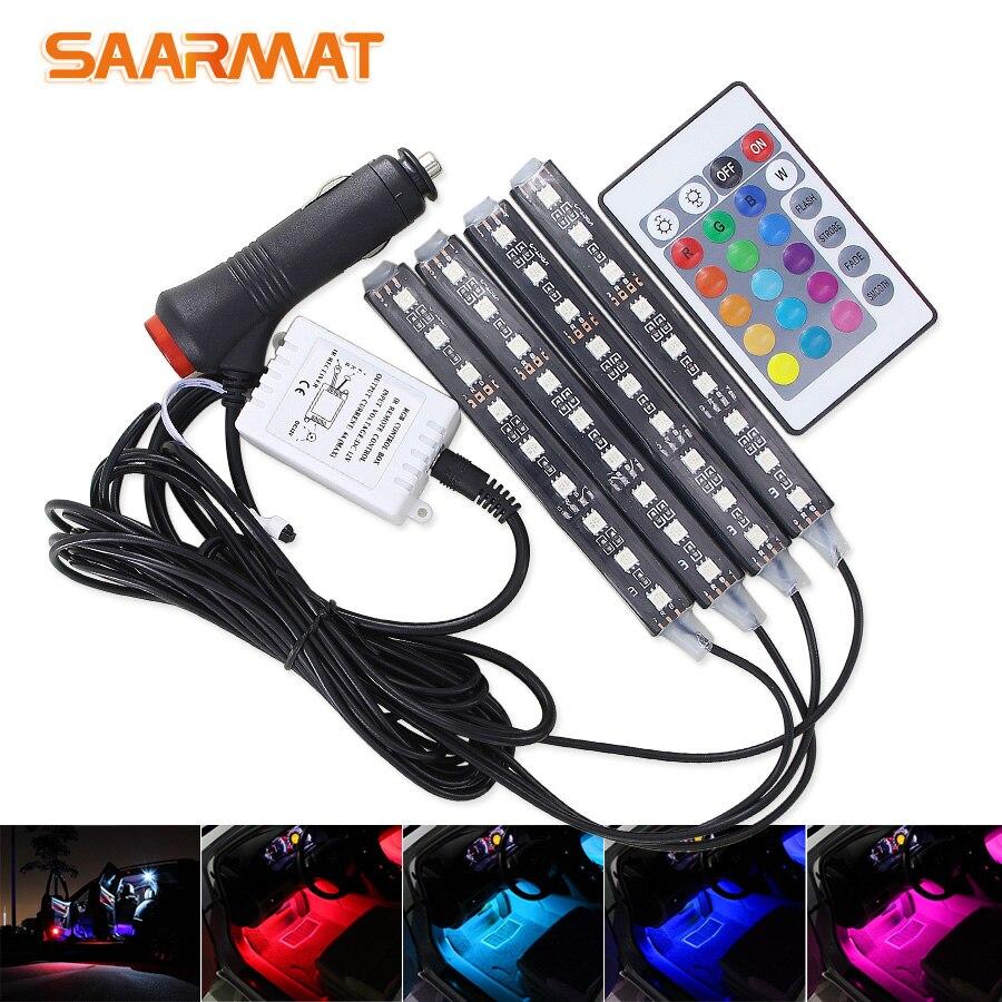 4pcs Car RGB LED…