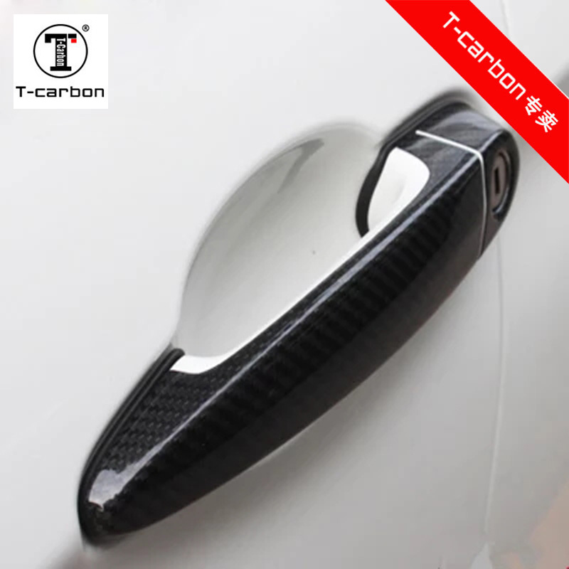 For BMW Carbon Fiber Auto Door Handle Knob Exterior Trim Covers For BMW X1 F84 X3 F25 X4 F26 X5 E70 X6 E71 2015-2019 Sticker