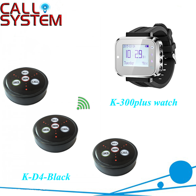 Electronic waiter call service system for cafe restaurant pager server (8 clocks 8 buzzers) wireless restaurant waiter call button system 1pc k 402nr screen 40 table buzzers