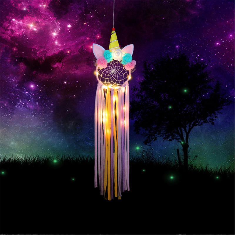 1pcs Unicorn Dream Catcher Girl Bedroom Wall Accessory Home Decoration Baby Shower Wedding Favor Unicorn Party Christmas Gift-B
