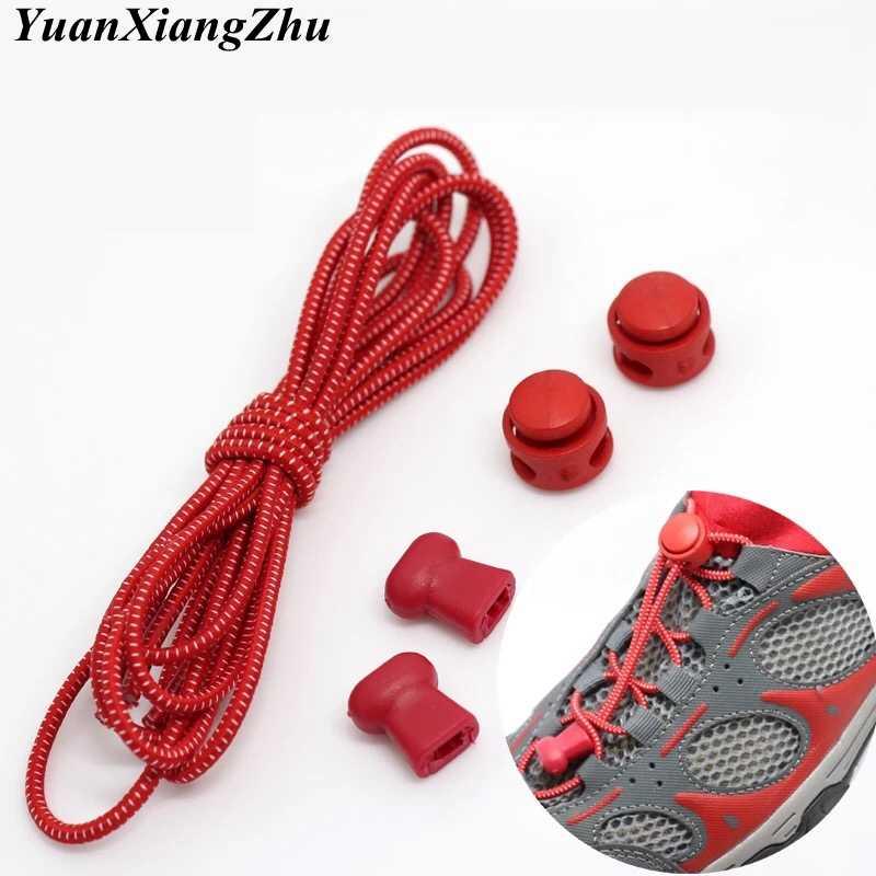 1 пара, 22 цвета, эластичные шнурки с круглым фиксатором, без завязок, шнурки для обуви для детей и взрослых, быстросохнущие шнурки, резиновые кроссовки, шнурки T1
