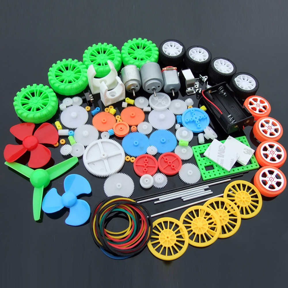 1set Multi Type Plastic Gear DC Motor Gearbox DIY Four-wheel Drive Car Toy Auto Robot Aircraft RC Model Craft Repair Toolkit