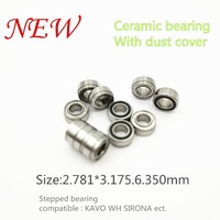2018 good quality KAVO compatible handpiece bearing dental bearings ceramic balls with dust cover 10pcs stepped bearing