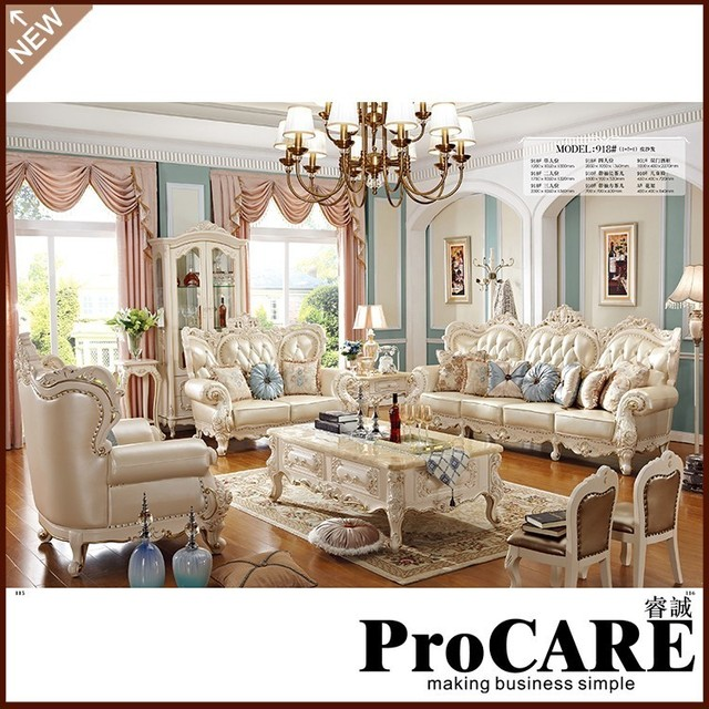 European Modern Sofa set living room furniture with 1+2+3 sofa sets ...