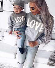 Mommy And Son Family Matching Mother Collar Tops Clothes Letter Printing Long Sleeve Casual Coat Kids Parent Child Outfits