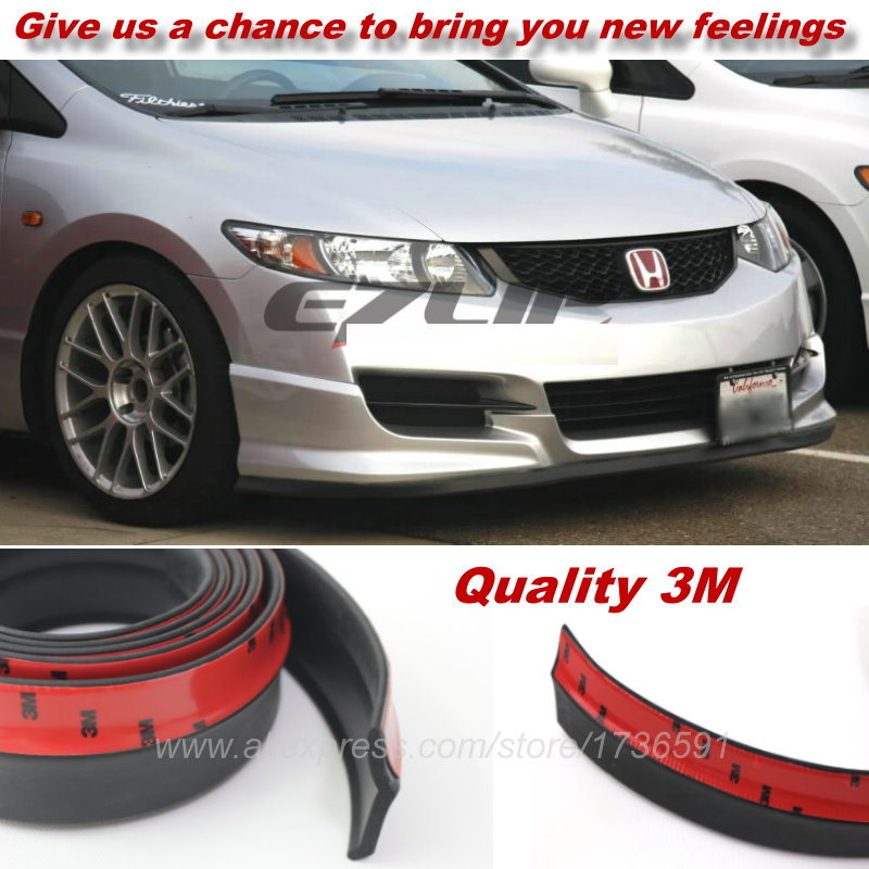 For Honda Civic CRV Odeysey FIT Jazz City Car  Bumper Lips / Spoiler Body Kit Strip / Front Tapes / Body Chassis Side Protection s1000rr turn led lights