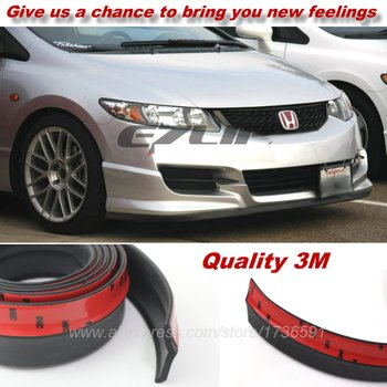 For HONDA Civic / Car  Bumper Lips / Spoiler For Car Tuning / Body Kit Strip / Front Tapes / Body Chassis Side Protection front lip for lexus gs350