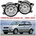 Для FORD FUSION (JU _) 2002-2015 автомобильная стиль изменение передний бампер СВЕТОДИОДНЫЕ противотуманные фары СВЕТОДИОДНЫЕ дневные ходовые огни 12V. 1 компл.