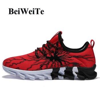 גברים ספורטיבי סניקרס גדול גודל נעלי ריצה לנשימה נגד החלקה ריפוד אור אביב תיירות חיצוני שביל הליכה זכר נעליים