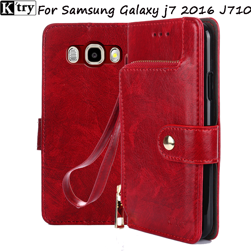 K;try for samsung J7 2016 case flip PU leather soft silicon back