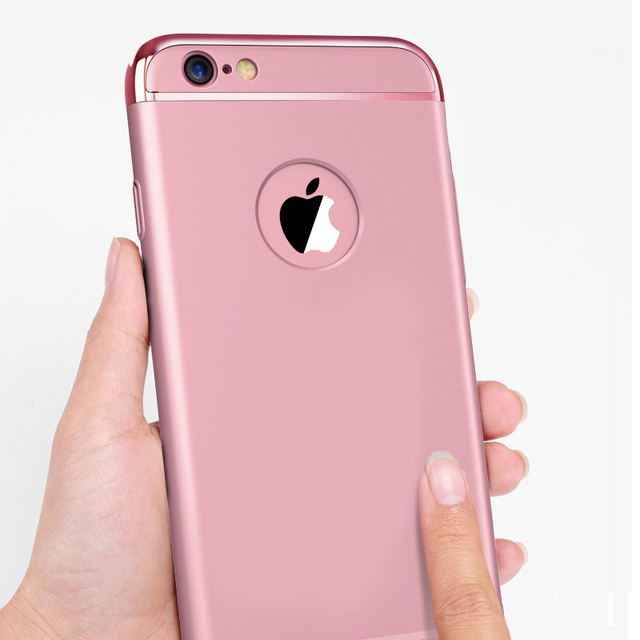New Elegance Luxury 360 Degree Full Body Protection Cover Cases For iPhone 6 6s 6plus Case Glass For iPhone 6S Case