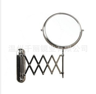 8 Inch Folding Wall Mirror Copper, 20cm Bathroom Cosmetic Mirror, Wall Mounted Beauty Mirror Factory Direct Supply Wholesale