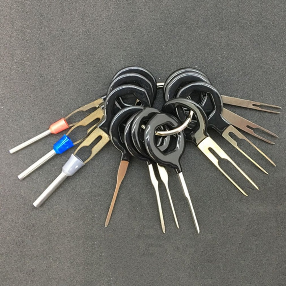 11pcs set High Quality Car Plug Terminal Extraction Pick Back Needle Wire Harness Connector Crimp Pin