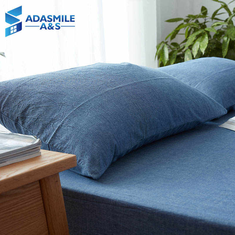 100% Cotton Solid Color Bed Pillow Cover 48*74cm Rectangular Pink/Blue/Grey Pillowcase Sleeping  Bedding Pillow Case