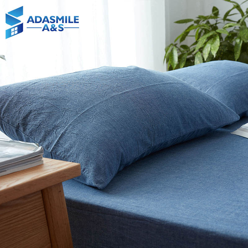 100% Cotton Solid Color Bed Pillow Cover 48*74cm Rectangular Pink/Blue/Grey Pillowcase Sleeping Bedding Pillow Case