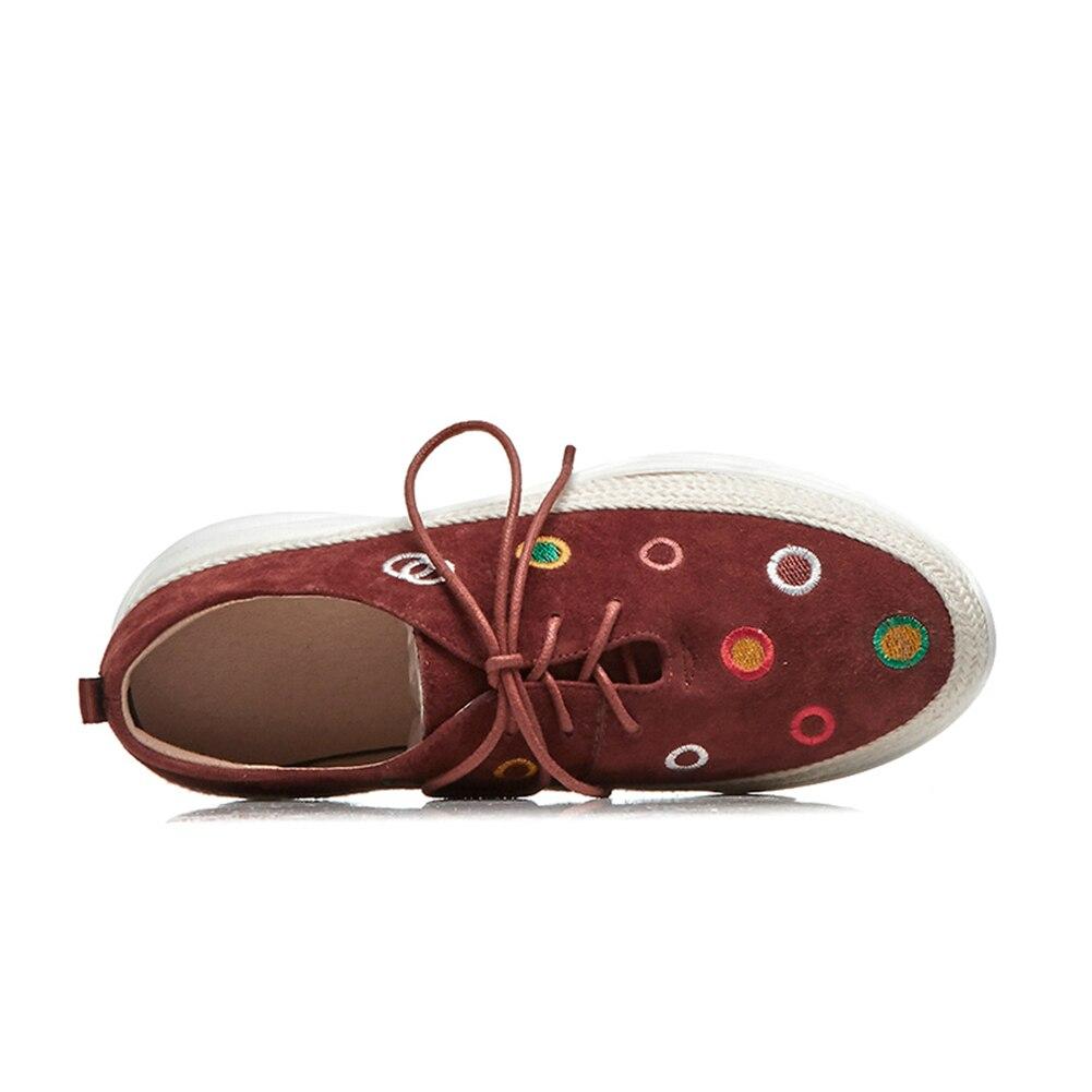 Noir Mode En brick Chaussures Automne De Décontracté Red Plates Pour Femmes Appartements Naturel Brodent 2019 Marque Daim Femme Sport Doratasia YqzATT