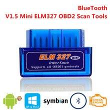 Bluetooth V1.5 Мини ELM327 OBD2 ELM 327 OBDII OBD 2 II Умный интеллектуальный Диагностический авто интерфейс сканер инструмент сканирующий датчик