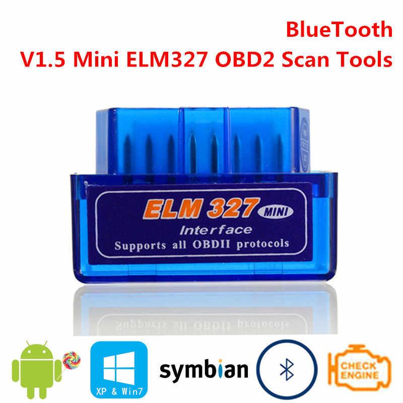 Bluetooth V1.5 ミニ ELM327 OBD2 elm 327 OBDII OBD 2 II スマートインテリジェント診断車の自動車インターフェイススキャナツールスキャンセンサー