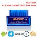Bluetooth V1.5 Mini ELM327 OBD2 ELM 327 OBDII OBD 2 II capteur Intelligent Intelligent de balayage d'outil de Scanner d'interface automatique de voiture de Diagnostic|Moteurs d'ordinateur| |  -