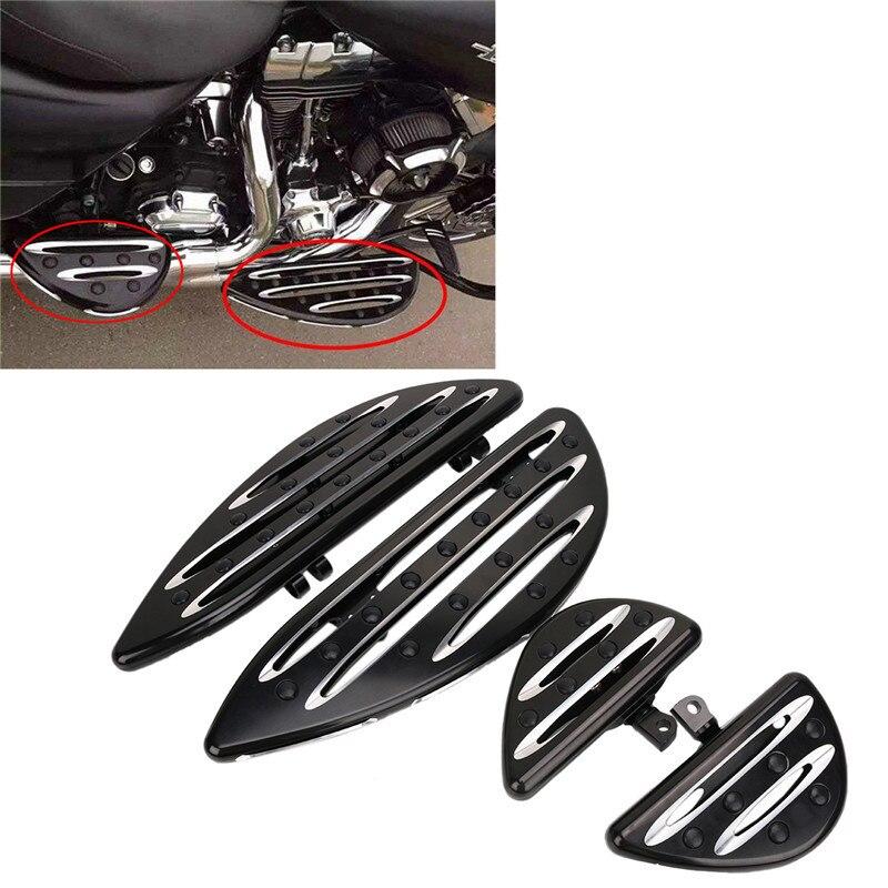 CNC глубокий вырез Алюминий спереди драйвер доски ног сзади пассажирский паркетной доски педаль для Harley Touring Softail Dyna FLD
