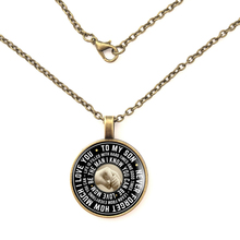 лучшая цена YSDLJG To My Son Luxury Necklace, Best Birthday Gift For Son Mother And Son Gift Ideas High Quality Necklaces Jewelry