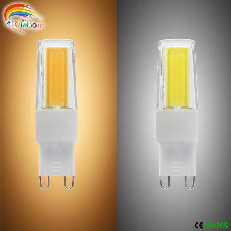LED G4 G9 lámpara bombilla AC/DC 12 V 12 V 220 V 7 W 8 W 9 W COB SMD 2835 lampadada G9 luces de iluminación LED reemplazan la lámpara halógena de proyector