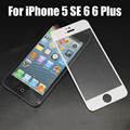 Полное покрытие Премиум Закаленное Стекло-Экран Протектор для iPhone 5 SE 6 s 6 Plus Закаленное защитная пленка бесплатная доставка
