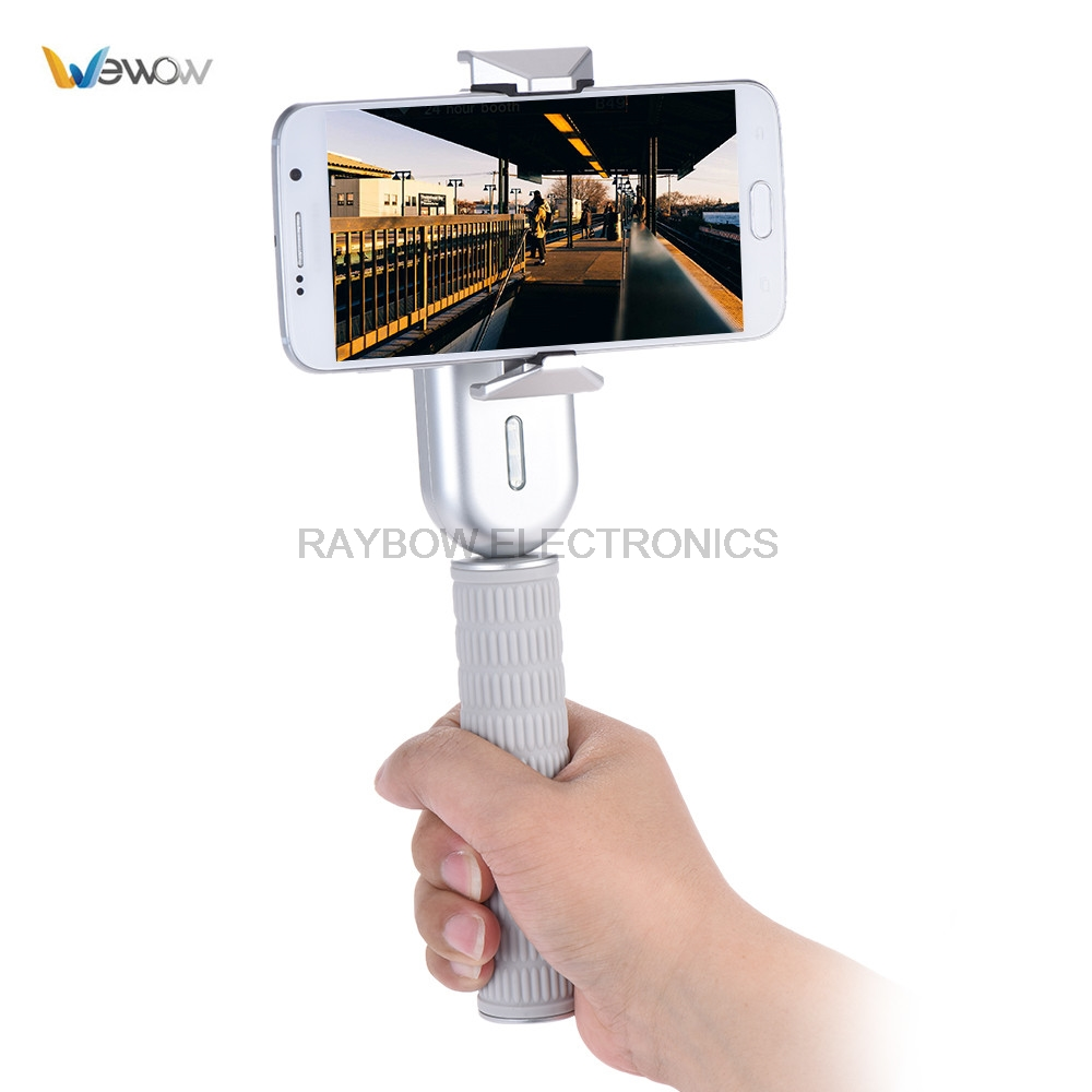 Wewow Fancy 1 Axis Handheld Gimbal gyro stabilizer for cameras sefie stick for iPhone Samsung Huawei Xiaomi smartphone x cam sight2 2 axis smartphone handheld stabilizer mobile phone brushless gimbal with bluetooth for iphone samsung xiaomi nexus