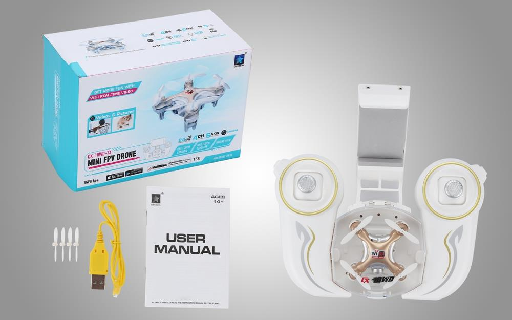 Cheerson cx-10wtx rc quadcopter wifi update version cx10 mini drone fpv cámara f