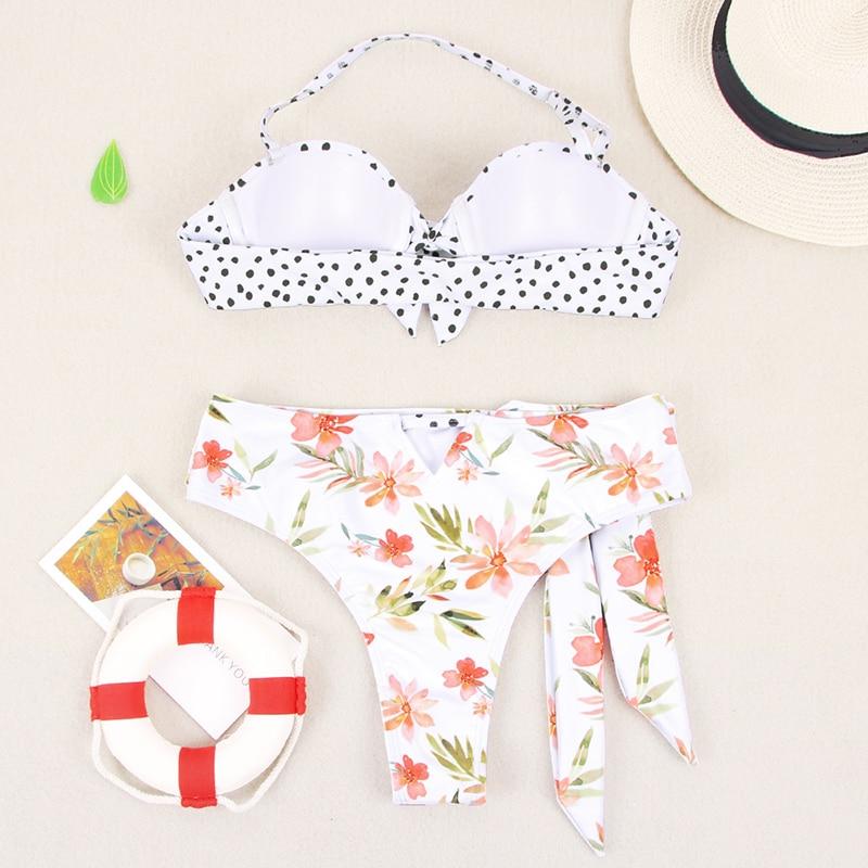 HTB1YGtqbaSs3KVjSZPiq6AsiVXau Miyouj Ruffle Bikini Off Shoulder Floral Swimsuit Bandage Bow Swimwear Push Up Biquini Feminino Bathing Suit Women Bikini Set