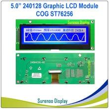 Módulo de pantalla LCD COG de matriz gráfica 24064x64, controlador ST75256 incorporado, Blanco en azul con retroiluminación, 240