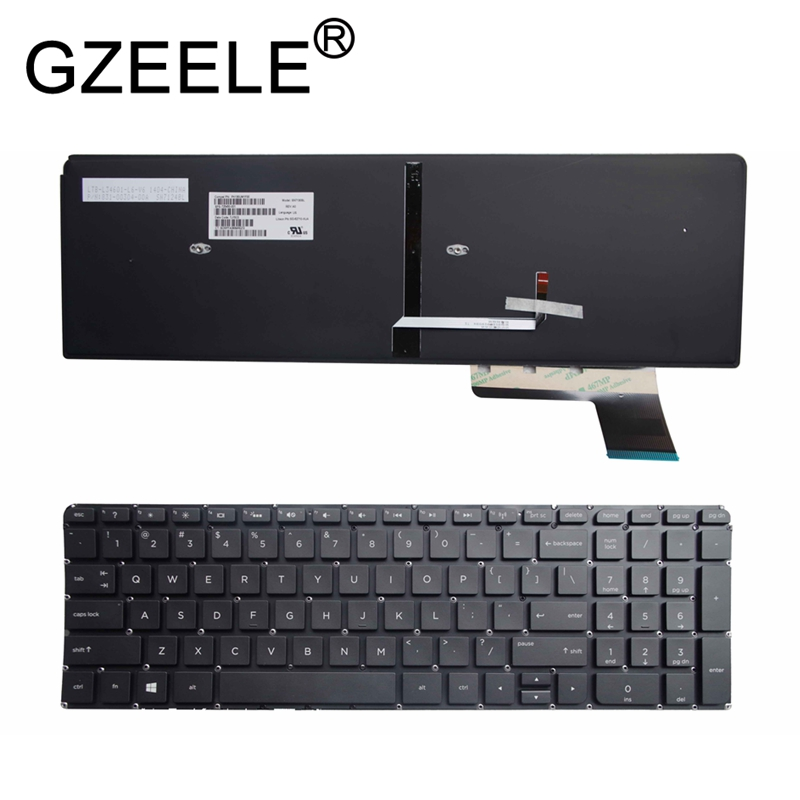 GZEELE new English Keyboard for Envy Touchsmart M6-K series Keyboard PK130UM2D00 V140902DS1 M6-K015DX 725450-001 laptop BLACK