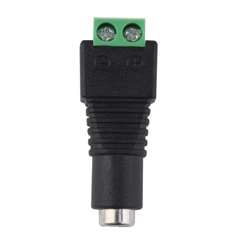 Hot 1Pcs 2.1 X 5.5mm DC Power Female Plug Jack Adapter Connector Plug For CCTV LED Strip Light Eletronic New
