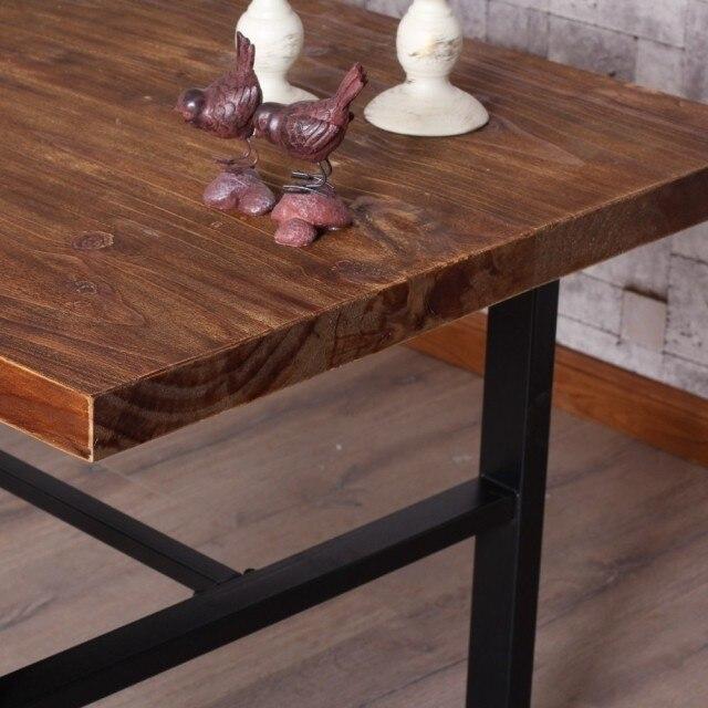 hierro americano retro metal madera combinacin plegable mesa de comedor a hacer el viejo de escritorio mesa de en mesas de