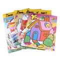 Random Отправлено 9 Цвета Дети DIY Песок Картина Раскраски Игрушки Дети Обучения Развивающие Игрушки Для Рисования