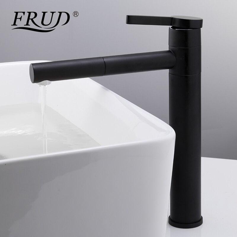 Black Bathroom Faucets FRUD Basin Faucets Pull Out Black Bathroom Sink Crane Sink Basin Mixer Taps  Hot and Cold Deck Mounted Bathroom Faucet Y10121 - aliexpress.com -  imall.com