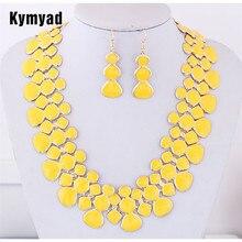 Kymyad Gold Color Jewellery Sets For Women Bijoux Femme Necklace Set New Gourd N