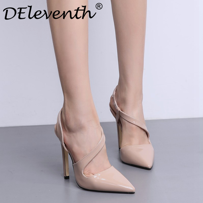Brand Shoes Woman High Heels Women Shoes Pumps Sandals Stilettos Shoes For Women Slip-on Pointed Toe Leather Wedding Party Shoes artmu women high heels shoes two kinds of wear methods shoes female handmade leather shoes women pumps slip on shoes