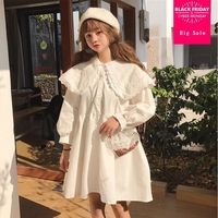 2018 spring fashion brand Japanese style Lolita Dress peter pan collar Kawai cute girl a line dress wj1956 drop shipping