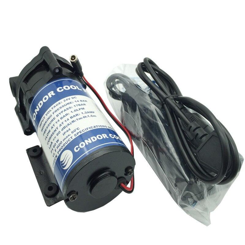C090 vendita calda pompa booster acqua 24 v dc pompa idraulica 14bar 60 w 1L/min super tranquillo di nebbia di raffreddamento del motore